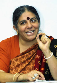 A link between the oppression of women and the destruction of the environment is studied and discussed by people such as Dr. Vandana Shiva.