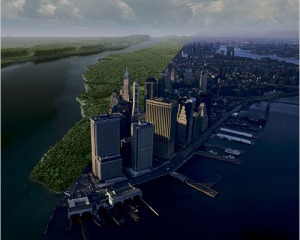 The Manahatta project used satellite imagery to create an idea of what the island of Manhattan used to look like before Colonization